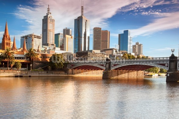 Melbourne Skyline wall mural