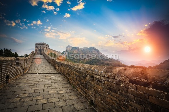Great Wall of China Sunset wall mural