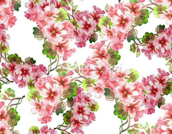 Geranium Pattern wallpaper mural