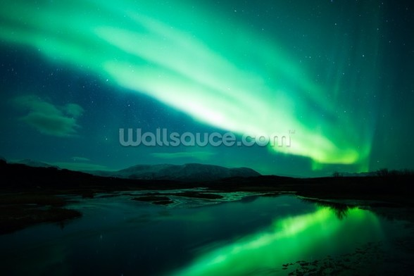 The Northern Lights mural wallpaper