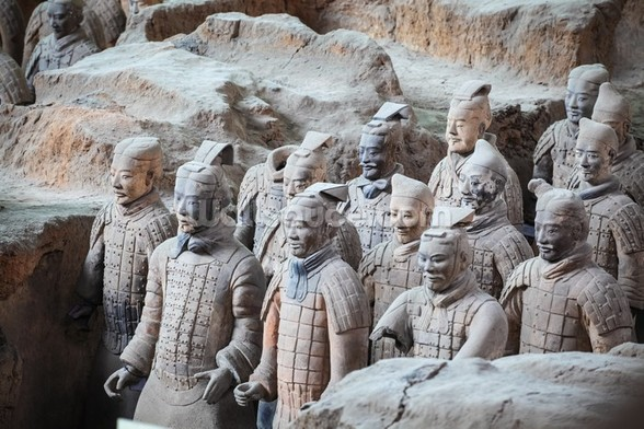 Terracotta Warriors, Xian mural wallpaper