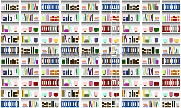 Bookcase - Digital wallpaper mural