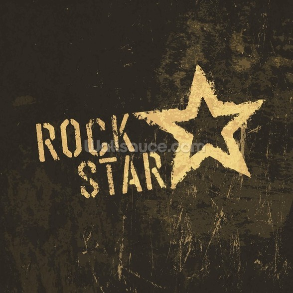 Rock Star wall mural
