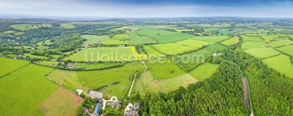 The Cotswolds, Ariel View mural wallpaper