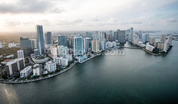 Miami From The Air mural wallpaper