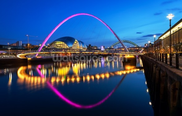Millennium Bridge Newcastle wallpaper mural