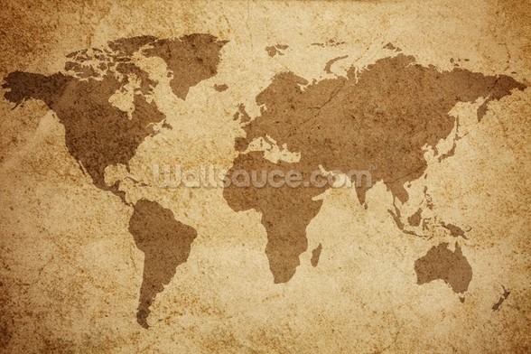 Textured World Map wall mural
