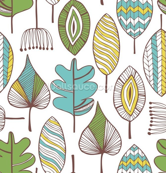Leaf Chic wallpaper mural