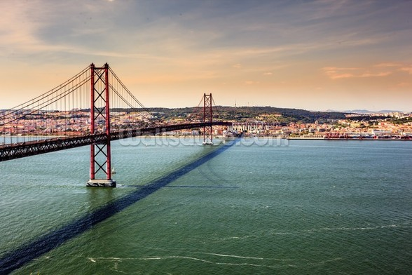 Lisbon, Bridge of 25th of April wallpaper mural