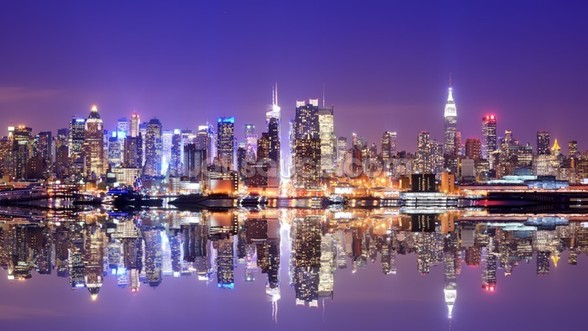 Manhattan Reflections wallpaper mural