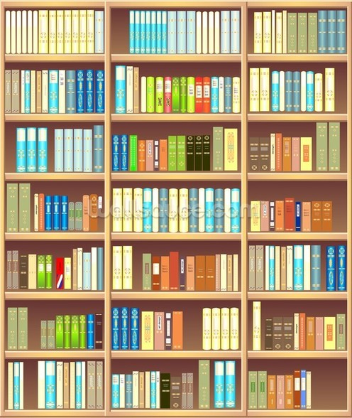 Colourful Bookcase wall mural