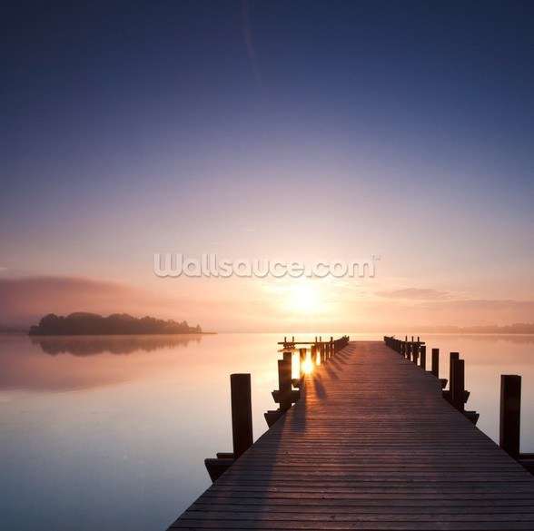 Peaceful Lake View mural wallpaper
