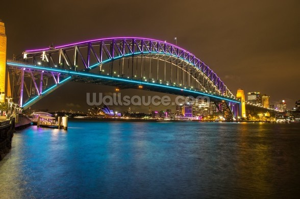 Sydney Harbour Bridge at Night wallpaper mural