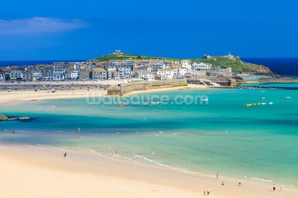 St Ives Beach mural wallpaper
