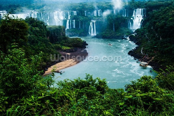 Iguassu Falls, Brazillian Side mural wallpaper