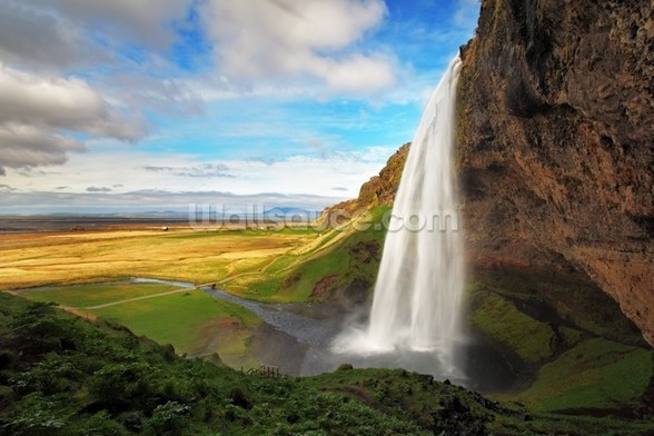 Seljalandsfoss Waterfall, Iceland wall mural