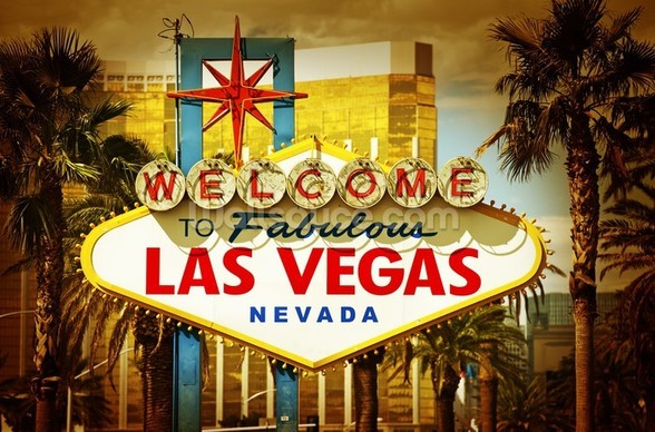 Las Vegas Welcome wallpaper mural