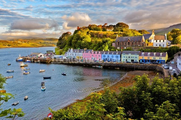 Portree, Isle of Skye mural wallpaper