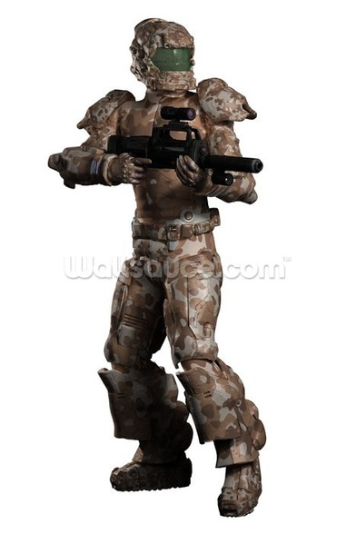 Space Marine Trooper in Camouflage mural wallpaper
