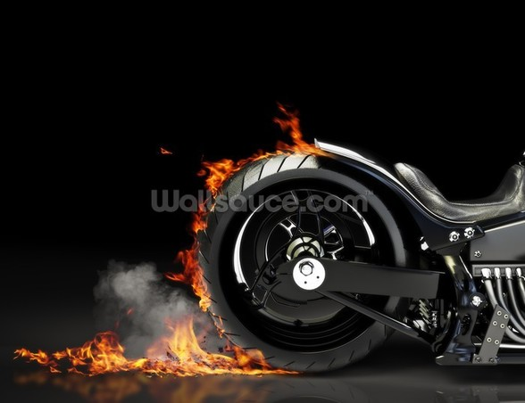 Motorcycle Burnout wall mural