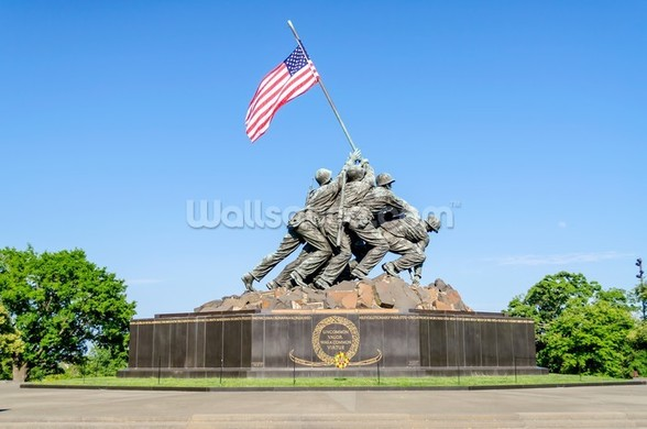 Iwo Jima Memorial wallpaper mural