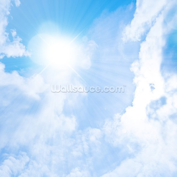 Sunlight Through Clouds mural wallpaper