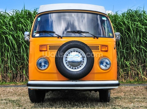 Orange VW Camper wall mural
