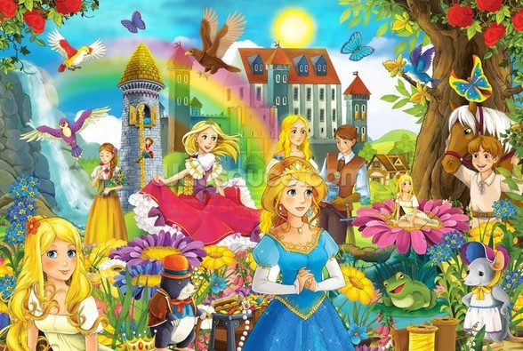 The Fairy Tales wall mural