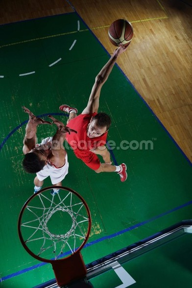 Basketball player in action for Basketball mural wallpaper