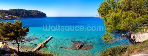 Idyllic Mallorca Sea View wall mural