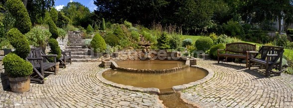 Chalice Well Gardens, Glastonbury wallpaper mural