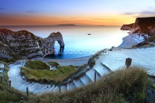 Durdle Door Sunset wallpaper mural