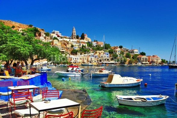Symi Island, Greece wallpaper mural