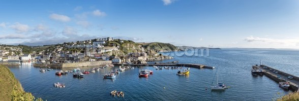 Mevagissey Fishing Village, Cornwall wall mural