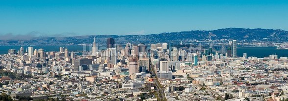 San Francisco city skyline mural wallpaper