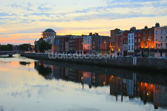 Dublin at Dusk wallpaper mural