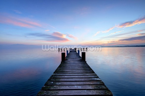 Calm Jetty View mural wallpaper