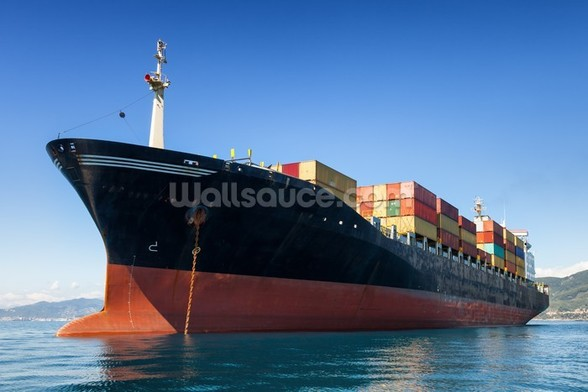 Cargo Container Ship wall mural