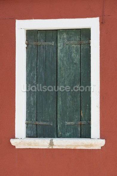 Burano Venice Window mural wallpaper