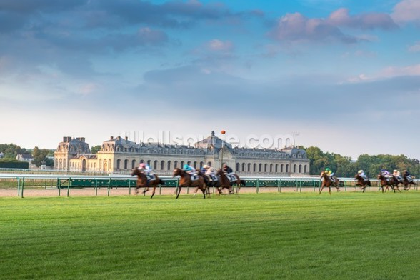 Horserace in Chantilly wall mural