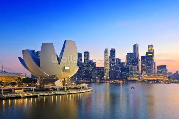 Singapore Skyline mural wallpaper