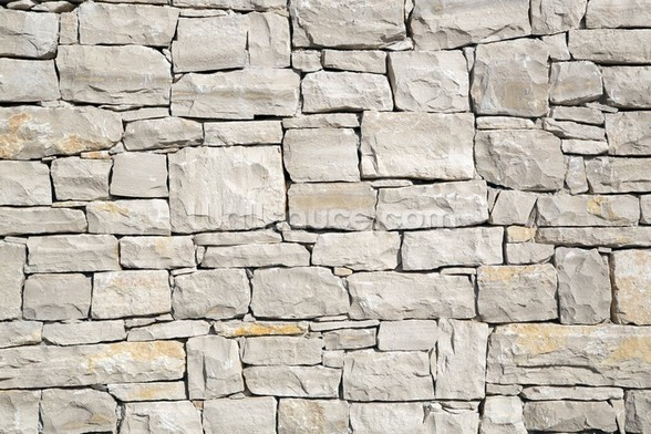 Stone Wall - White wall mural