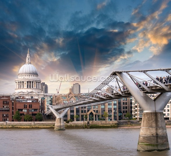 Millennium Bridge, London wallpaper mural