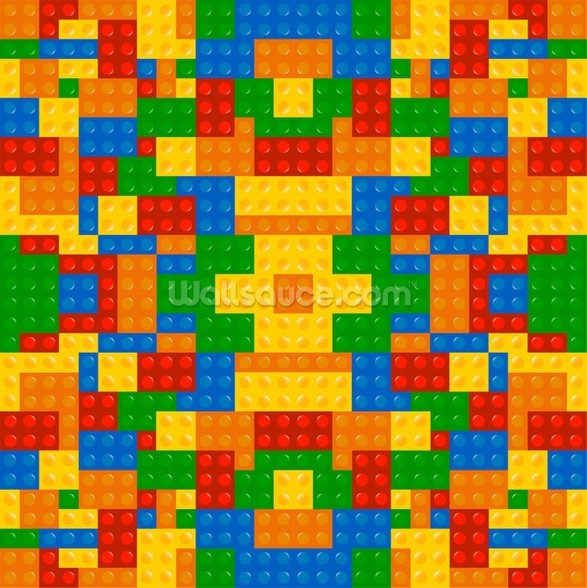Lego Pattern Effect wallpaper mural