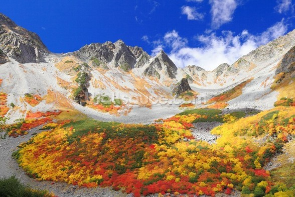 Colourful Mountain Landscape wall mural