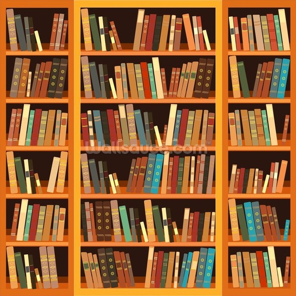 Bookcase - Light wall mural