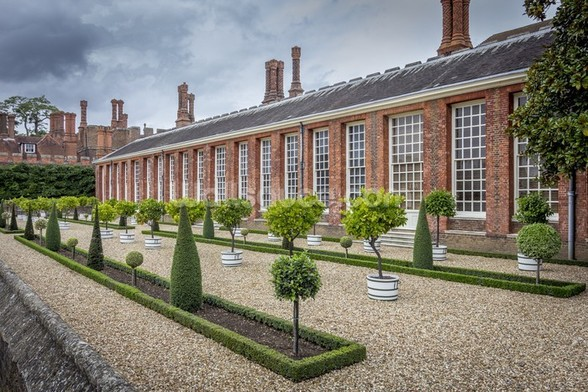 Hampton Court Orangery wall mural
