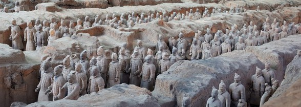 Terracotta Warriors in Xian wall mural