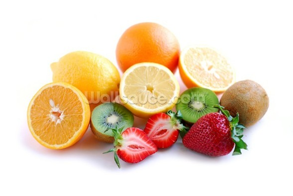 Assorted Fruit mural wallpaper