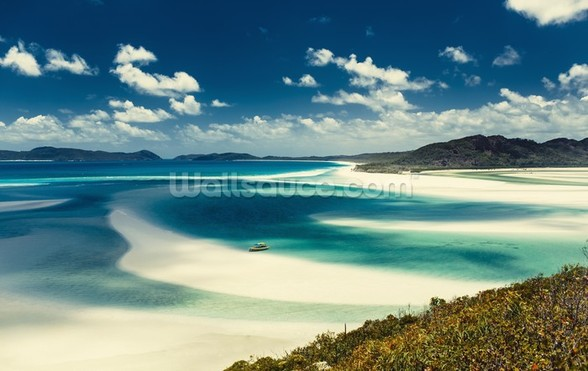 Whitehaven Beach, Australia mural wallpaper